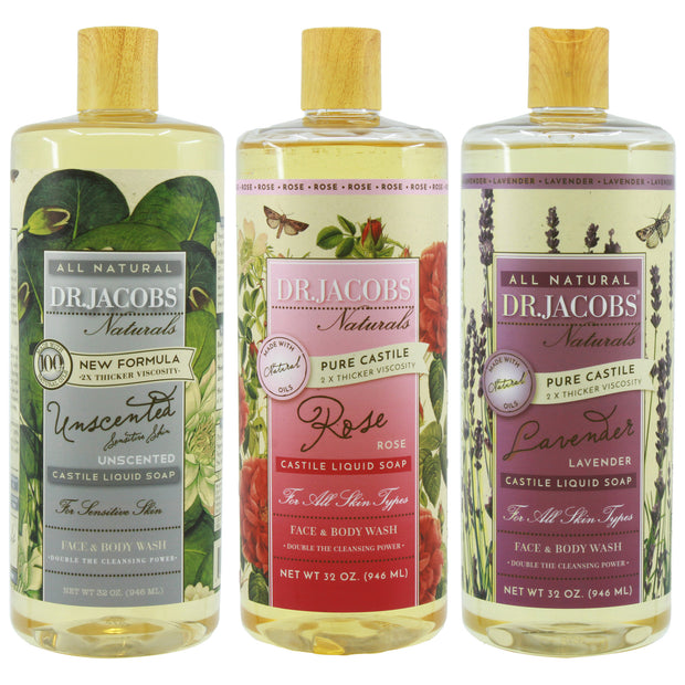 **NEW** Calming Castile Liquid Soap Set - Dr. Jacobs Naturals