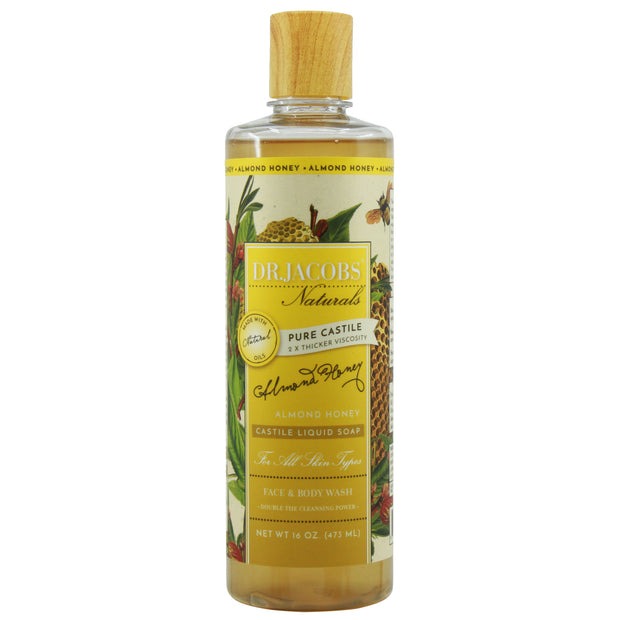 Pure Castile Liquid Soap - Almond Honey - Dr. Jacobs Naturals