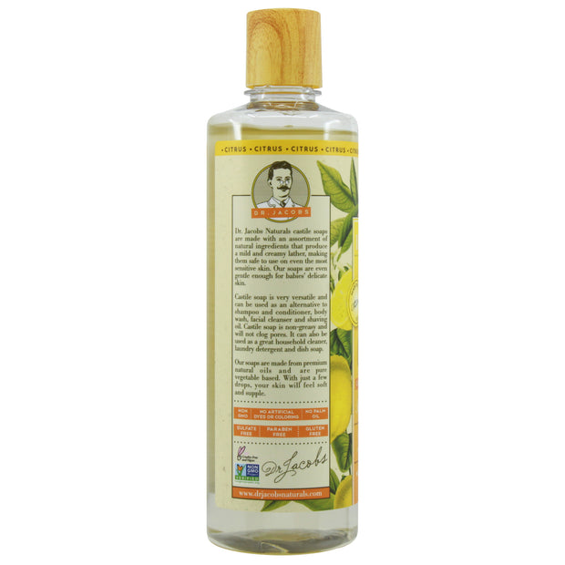 Pure Castile Liquid Soap - Citrus (Orange Ginger) - Dr. Jacobs Naturals