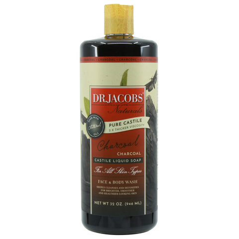 Pure Castile Liquid Soap - Charcoal - Dr. Jacobs Naturals