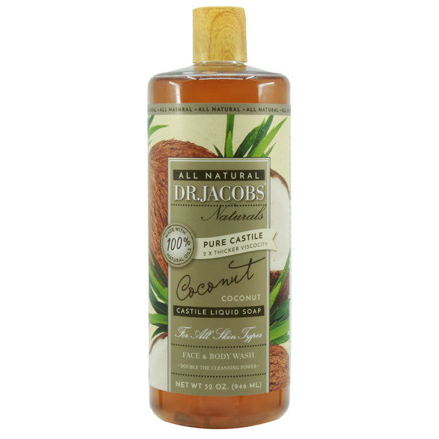 Pure Castile Liquid Soap - Coconut - Dr. Jacobs Naturals