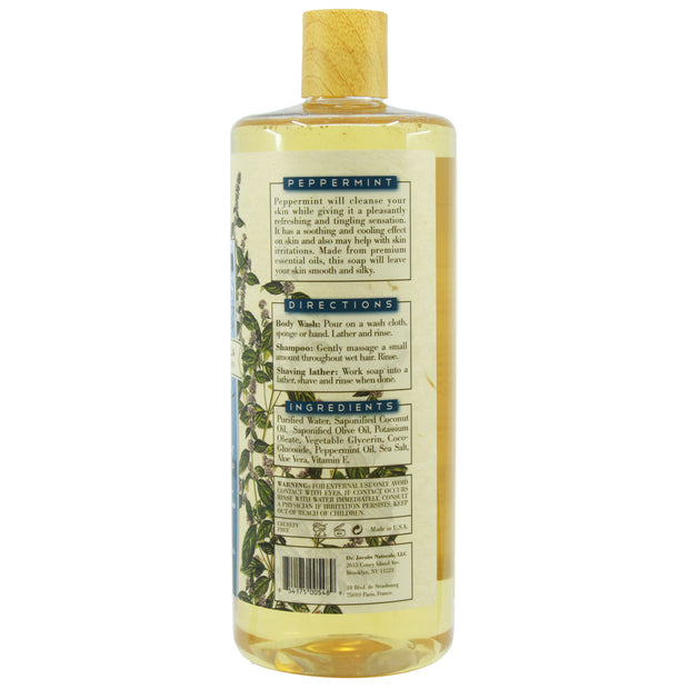 Pure Castile Liquid Soap - Peppermint - Dr. Jacobs Naturals