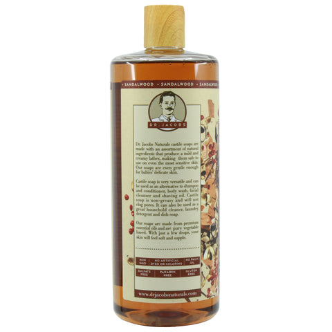Pure Castile Liquid Soap - Sandalwood - Dr. Jacobs Naturals