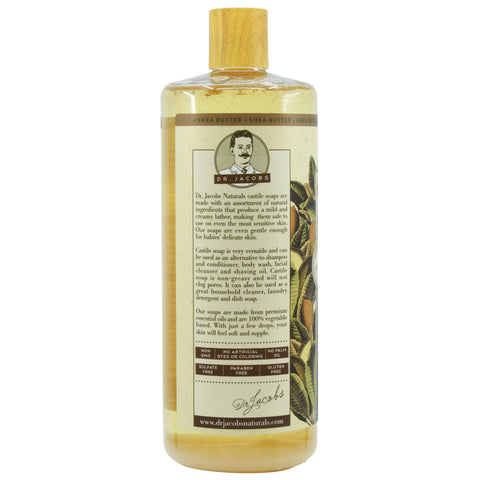 Pure Castile Liquid Soap - Shea Butter (Organic Fair Trade) - Dr. Jacobs Naturals
