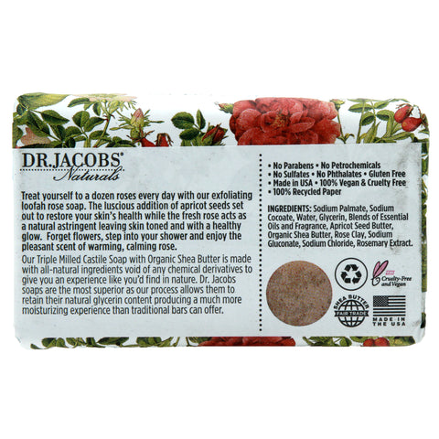 Exfoliating Castile Bar Soap - Lucy Rose - Dr. Jacobs Naturals