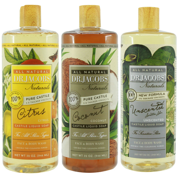 **NEW** Clean Your Fruits & Veggies Castile Soap Set - Dr. Jacobs Naturals
