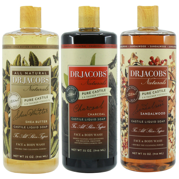 **NEW** Home Spa Castile Liquid Soap Set - Dr. Jacobs Naturals