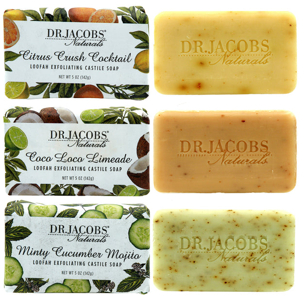 Invigorate Exfoliating Castile Bar Soap Set - Dr. Jacobs Naturals