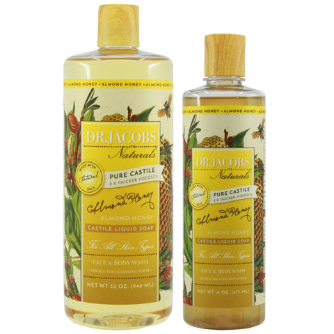 Now + Later Castile Liquid Soap Set - Almond Honey - Dr. Jacobs Naturals