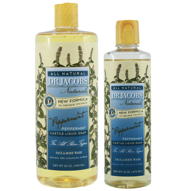 Now + Later Castile Liquid Soap Set - Peppermint - Dr. Jacobs Naturals