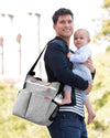 Duo Signature Diaper Bag Grey Melange