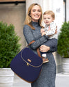 Curve Diaper Bag Satchel Navy