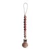 Pacifier Clip | Cleo (Redwood)