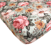 Crib Sheet Garden Floral Sea Foam