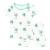 Printed Short Sleeve Toddler Pajama Set in Succulent