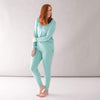 Women's Jogger Pajama Set in Jade