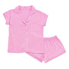 Women's Short Sleeve Pajama Set in Bubblegum