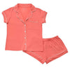 Women's Short Sleeve Pajama Set in Melon