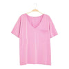 Women's Relaxed Fit V-Neck in Bubblegum