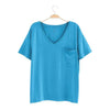 Women's Relaxed Fit V-Neck in Lagoon