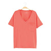 Women's Relaxed Fit V-Neck in Melon