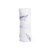 Cotton Muslin Swaddle Single Narwhal