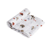Cotton Muslin Swaddle Single Mushroom