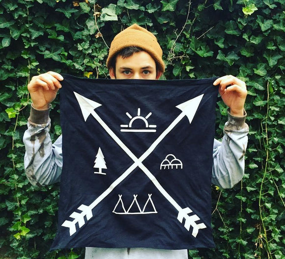 FLIGHTTRIBE PRINT 100% HEMP BANDANA IN A BAG