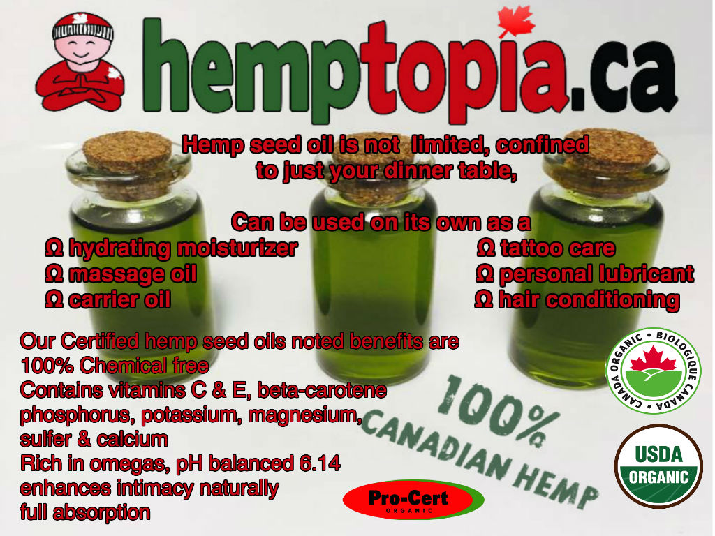 Cold pressed hemp seed oil features a light, nutty taste and can be used in a wide range of recipes including: Sauces, dips, marinades and salad dressings.  It also works beautifully added to protein shakes and smoothies.    Hemp seed oil is a natural plant based, whole food, that can be used in your daily recipes, consumed on its own as a food or dietary supplement or applied topically as a moisturizing oil on its own, and can be added to your pets diet mixed with their meals, used on coat & skin.
