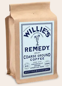 Willie's Remedy Decaf Blend Ground 8oz  250mg