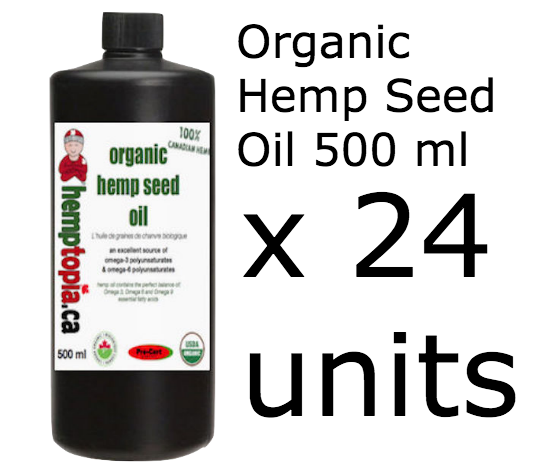 bulk Organic Hemp Seed oil 500ml (x24)
