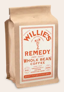 Willie's Remedy Dark Blend 8oz Whole Bean Coffee, 250mg