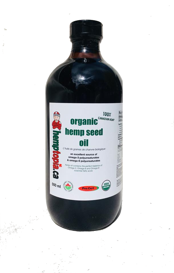 Organic Hemp Seed Oil 500 ml (glass bottle)