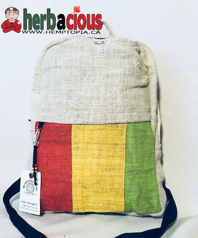 100% Hemp Rasta Back Pack