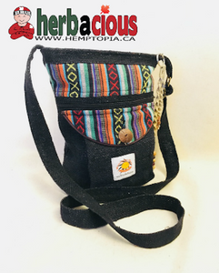 Hemp Side Shoulder Bag (black)