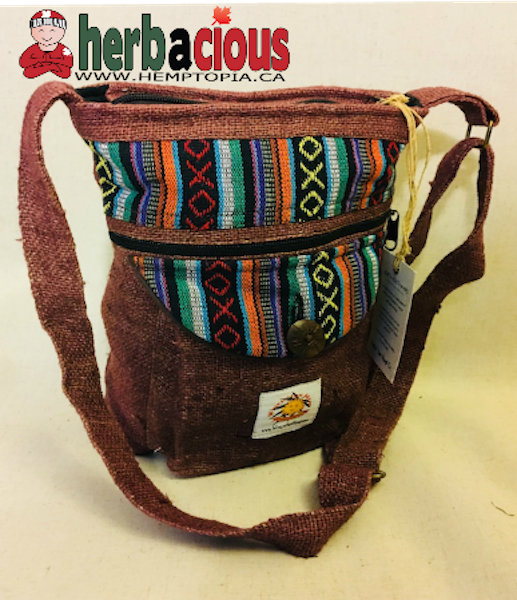 Hemp Side Shoulder Bag (brown)