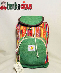 100% Hemp Drawstring Back Pack(green)