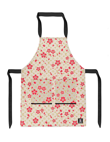 Monogram Kami Flower - OG Beige APRON Headliners.co - Headliners.co