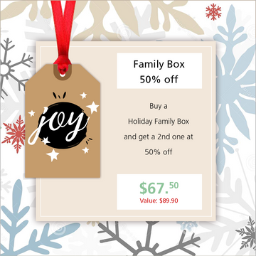 Family Box (Buy one get one half off)