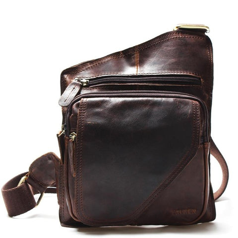 Tauren for Mandatory Co Vintage Casual Leather Small Messenger Bag
