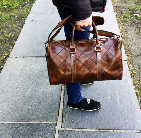 Mandatory Co- Westal  Leather quilt Duffle