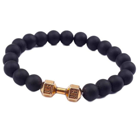 Barbell Bead Bracelet Black