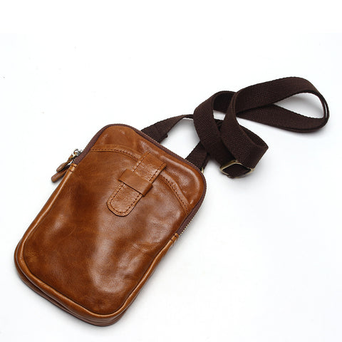 Tauren for Mandatory Co Vintage 100% Genuine Leather Crossbody messenger Bag