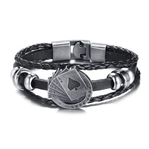 Leather Mandatory charm bracelet. Choose from multiple charms