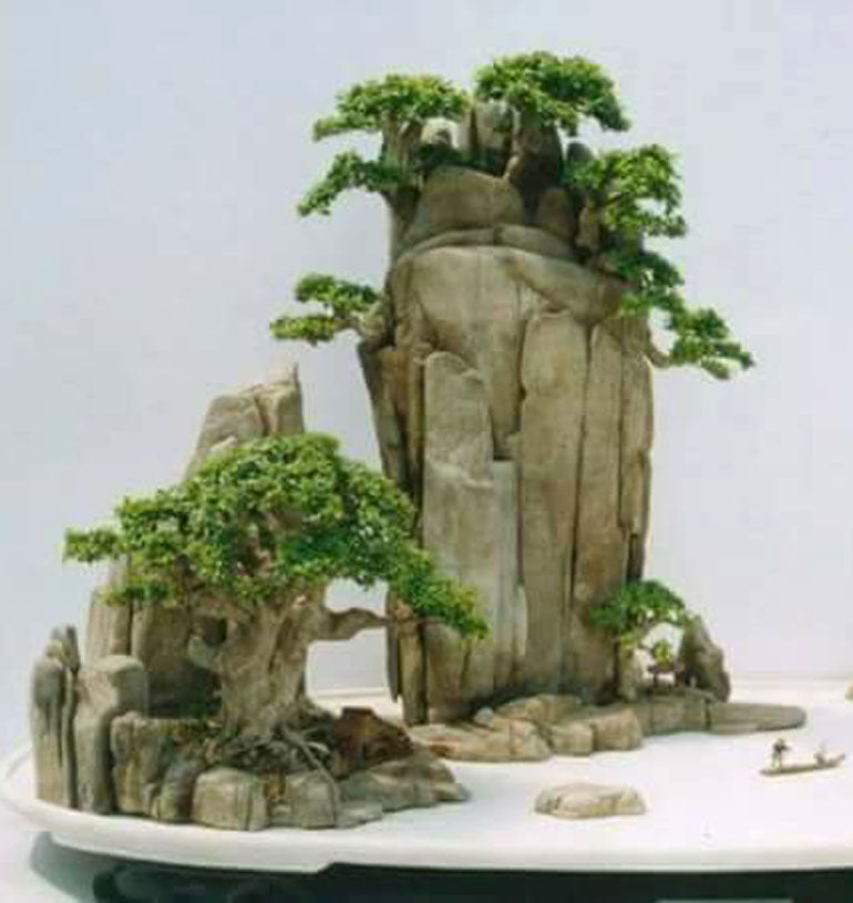 Can You Tell Penjing From Bonsai Stone Lantern