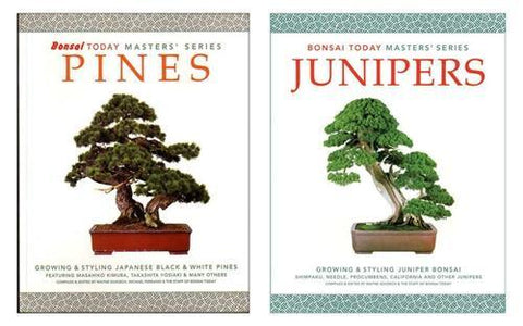 Set of 2 Bonsai Masters' Series Pine & Juniper books