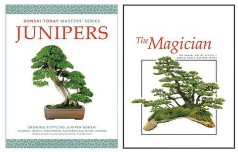 15.00 off - Masters' Series Bonsai Books - set of 2 - The Magician & Junipers