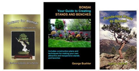 Set of 3 Haskill Creek Bonsai Books