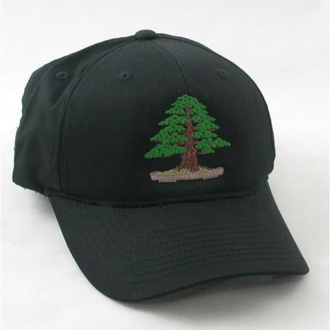 Formal White Pine Bonsai Embroidered Baseball Cap