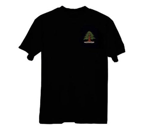Bonsai Embroidered T-Shirt, XL